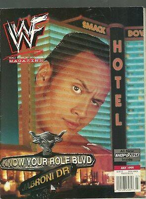WWF MAGAZINE JULY 1999 THE ROCK