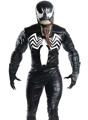 Marvel Villain Costumes (Deluxe Adult Venom Costume Mens Marvel Spider-man Villain)