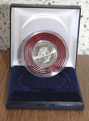 AV-VD Monaco 1989 100 Francs Silbermünze 40. Regierungsjubiläum Rainer II. KX21