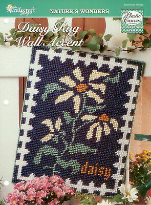 Daisy Rug Wall Accent Cross Stitch on Plastic Canvas Pattern - Flowers