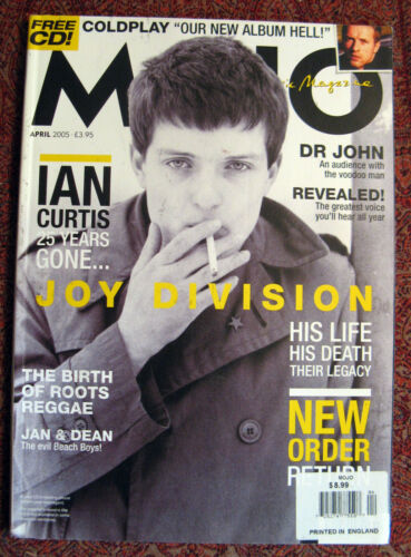 MOJO Magazine Issue #137 – April 2005 cover – Joy Division; CD NOT included