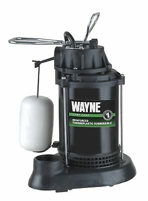Wayne Spf50 12 Hp Thermoplastic Sump Pump With Integrated Vertical Float Switch