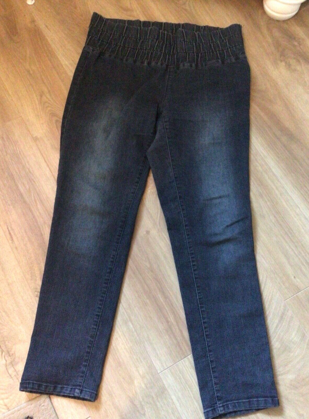 Jeans für Damen Gr. 22 mit Gummizug Blau von Arizona