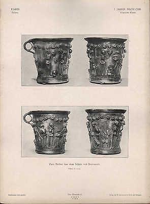 PARIS, Lithografie: I. Jh. n. Chr. Röm. Kunst Becher aus d Schatz von Boscoreale