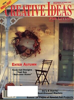 Creative Ideas For Living Sep/Oct 1990 Seasonal Designs Best Dressed Mantels (Creative Dresses Ideas)
