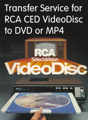 RCA CED VideoDisc Transfer Service Convert Copy to DVD or MP4