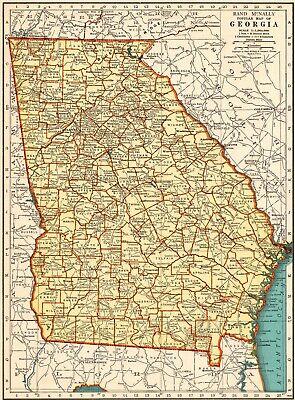 US CONFEDERATE STATES 1862 GA MAP MONROE MONTGOMERY MORGAN MURRAY COUNTY BIG