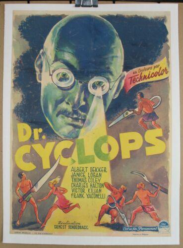 DR. CYCLOPS (1940) Belgian Poster On Linen, Albert Dekker, Horror/Sci-Fi, RARE
