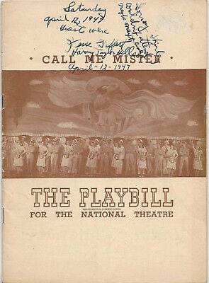 1947 Playbill Call Me Mister Jane Kean Glen Turnbull Maria Karnilova