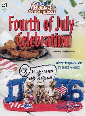 Fourth Of July Centerpieces (Fourth of July Celebration Easy Holiday Centerpieces plastic canvas pattern)