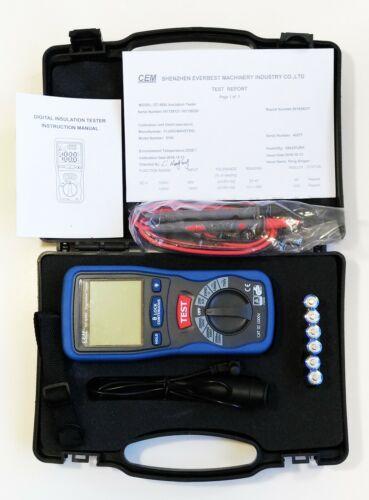 CEM DT-5500 Digital Insulation Tester CAT III 1000V High Voltage MegaOhmMeter