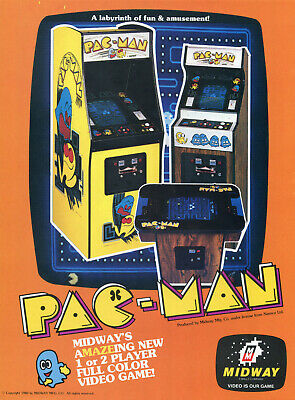 VINTAGE FLYER FOR ARCADE GAME - MIDWAY PAC-MAN (1980)