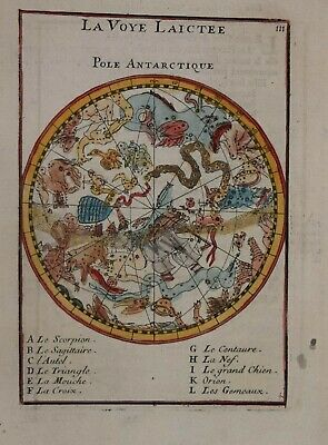 CELESTIAL - SOUTHERN SKY -  LA VOYE LAICTEE, POLE ANTARCTIQUE BY MALLET 1683.