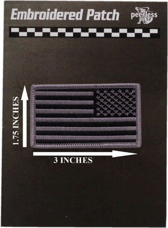 """American Flag Patch Subdued 1.75"""" x 3"""" Reverse"""