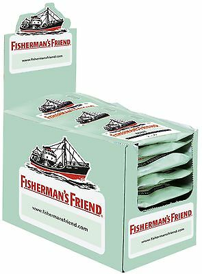 Fishermans Friend Pastillen ((1000g=29,98€) Fishermans Friend Mint - 24 Beutel - Menthol Pastillen)
