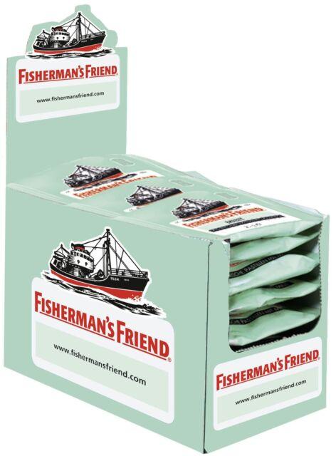 (1000g=29,98€) Fishermans Friend Mint - 24 Beutel - Menthol Pastillen
