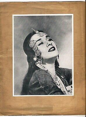 YMA SUMAC SUMMER TOUR OPERA HOUSE BLACKPOOL CONCERT PROGRAMME 1952