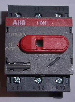 ABB OT63E3  3 Pole 80 AMP Disconnect Switch 0T63E3  1SCA022376RG410 NEW for sale  Beaver