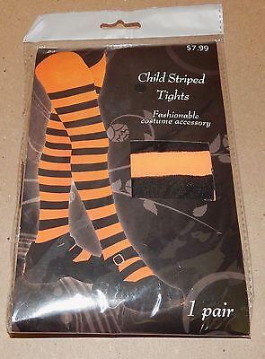 Halloween Costume 1pr Child Striped Tights 5+ Orange & Black Stripes Gemmy 128T](Halloween Pr)