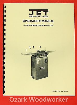 Jetasian 6 Jointer Model Jj-6cs 708456 Operators Parts Manual 0891