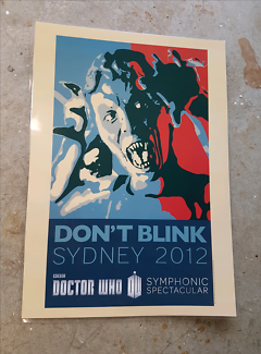Dont Blink Sydney  Doctor Who poster promo laminated  Castle Hill The Hills District Preview