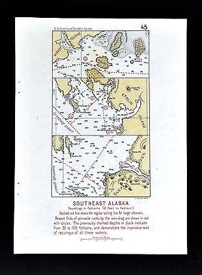 1918 USGS Map Alaska - Mitkof & Etolin Islands - Clarence Strait - McHenry Inlet