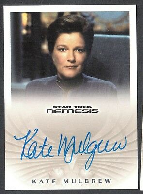 STAR TREK NEMESIS Rittenhouse 2002 AUTOGRAPH CARD #NA5 KATE MULGREW