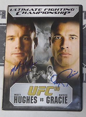 Matt Hughes & Royce Gracie Signed UFC 60 DVD PSA/DNA COA 2007 Autograph MMA HOF