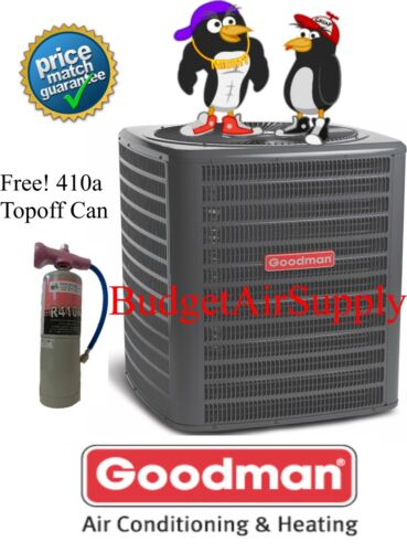 Goodman 2.5 Ton 14 Seer Straight A/c Condenser Pre Charged 410a Gsx140301+topoff