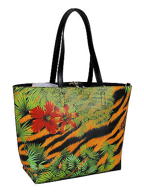 Versace Jeans Couture Tropical Large Reversible Shopper Tote Bag