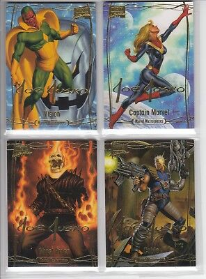 2016 Marvel Masterpieces GOLD Signature 81-Card Set #1-81 Complete Tier 1 2 & 3