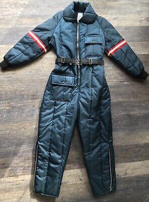 JC Penney Snowmobile Suit Vintage Sizing Ladies 12-14 Navy Blue Snowsuit 1-Piece