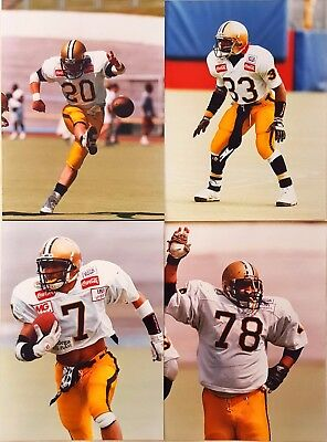 """4 x Leicester Panthers 10"""" x 7"""" photos BAFL American Football Mint Condition"""