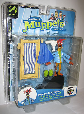 The Muppet Show Pepe The King Prawn Palisades Figure MOSC
