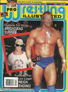Pro-Wrestling-Illustrated-PWI-April-1992-Lex-Luger-Sting-w-Ric-Flair-Poster