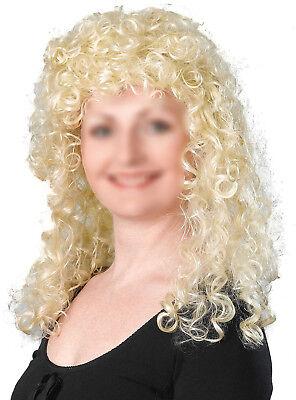 Blonde Lockige Perücke Dolly Parton 60er 70er 80er Kostüm Karneval Wig