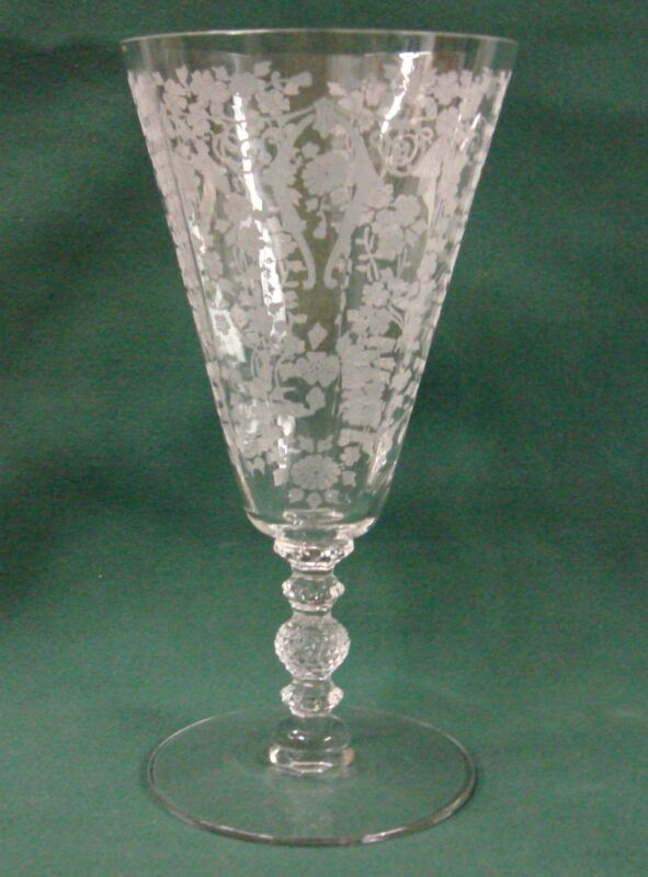 Cambridge Glass DIANE-CLEAR #3122 9 Oz Footed Tumbler Tea Stem BEST Mult Avail