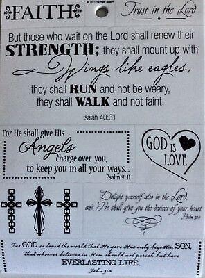 Religious Faith God is Love Angels Bible Verse Phrase Scrapbook - Scripture Stickers