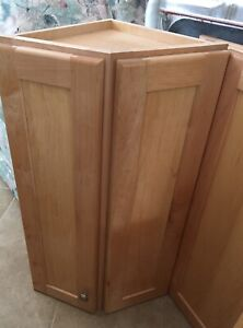 Solid Maple wood corner cabinets $20.00 each