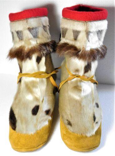 Vintage Handmade Inuit Eskimo Mukluks Kamik from Nunavut, Canada