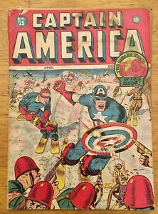 Captain America Comics (Timely) #25 April 1942