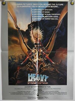 "HEAVY METAL 18"" x 24½"" ORIG MINI MOVIE POSTER CHRIS ACHILLEOS ART (1981)"