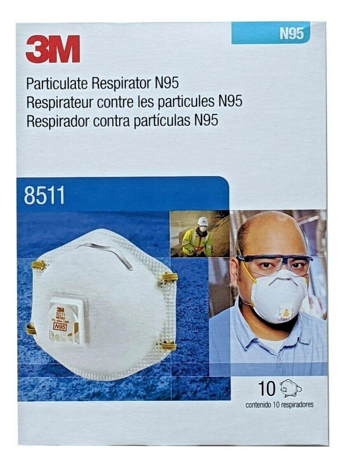 8511 Box of 10, Disposable, NIOSH, 2025 Expiry, MADE IN USA