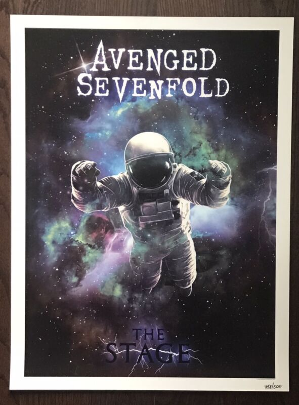 Avenged Sevenfold The Stage Numbered 458/500 Lithograph Poster