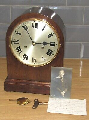 Delightful Antique 'Hamburg American' Striking Bracket Clock. Working
