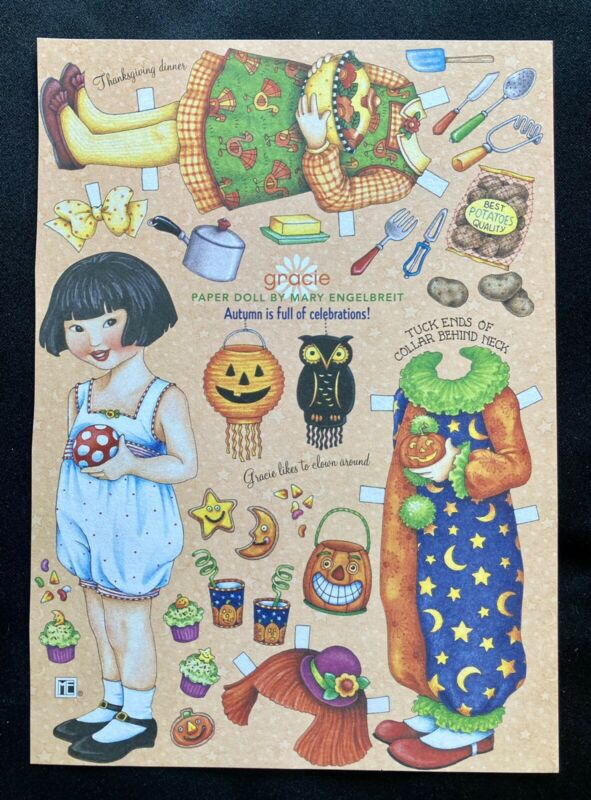 MARY ENGELBREIT Paper Doll, Gracie, Uncut Home Companion Mag.