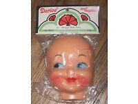 "Darcie Dimple Doll Face 4.5/"" Vintage Celluloid Plastic Craft Mask NIP B48-3"