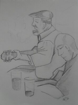 Original Pencil illustration 'Ingleton Folk Night' by Michelle Ranson
