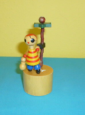 Thump Push up Collapsible Wood Toy Pirate