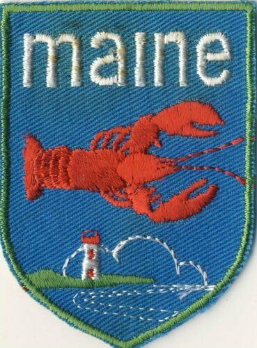 "Maine Lobster Voyageur ME Lighthouse Souvenir Backpack 2.75"" Patch"